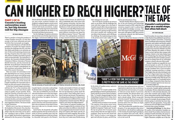 Article Preview: CAN HIGHER ED REACH HIGHER?, JULY 27th 2009 2009 | Maclean's