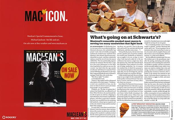 Article Preview: What's going on at Schwartz's?, JULY 27th 2009 2009 | Maclean's
