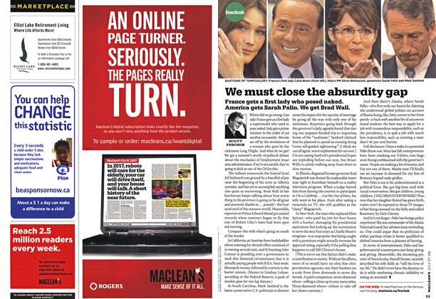 Article Preview: We must close the absurdity gap, JULY 27th 2009 2009 | Maclean's