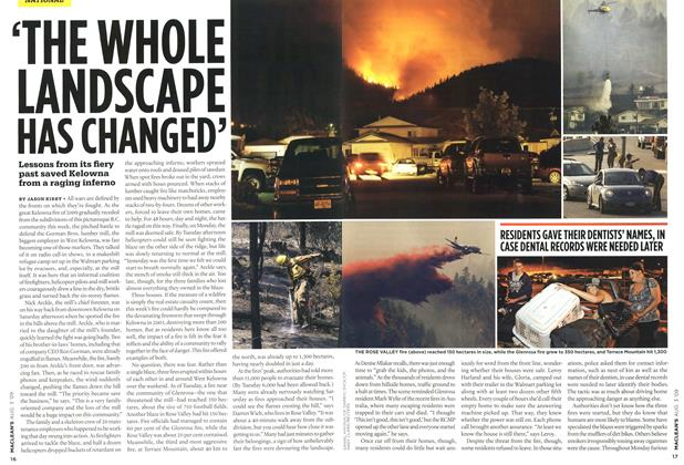 Article Preview: 'THE WHOLE LANDSCAPE HAS CHAHGED', AUG. 3rd 2009 2009 | Maclean's