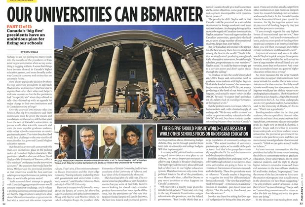 Article Preview: OUR UNIVERSITIES CAN BE SMARTER, AUG. 3rd 2009 2009 | Maclean's