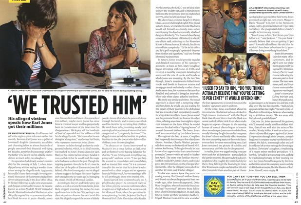 Article Preview: 'WE TRUSTED HIM', AUG. 3rd 2009 2009 | Maclean's