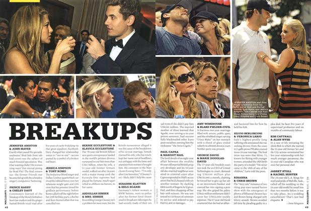 Article Preview: BREAKUPS, AUG. 3rd 2009 2009 | Maclean's