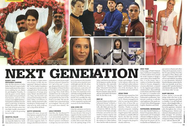 Article Preview: NEXT GENERATION, AUG. 3rd 2009 2009 | Maclean's