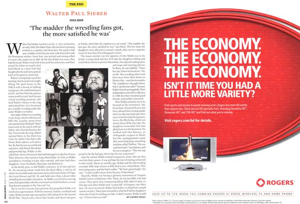 Article Preview: WALTER PAUL SIEBER 1933-2009, AUG. 3rd 2009 2009 | Maclean's
