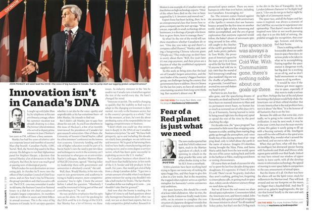 Article Preview: Innovation isn't in Canada's DNA, AUG. 3rd 2009 2009 | Maclean's