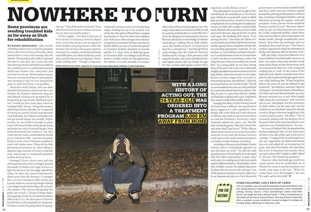 Article Preview: NOWHERE TO TURN, AUG. 17th 2009 2009 | Maclean's