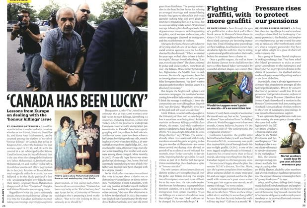 Article Preview: 'CANADA HAS BEEN LUCKY', AUG. 17th 2009 2009 | Maclean's