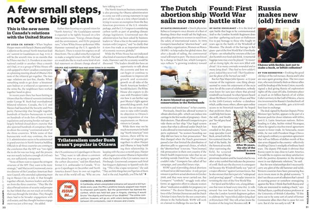 Article Preview: A few small steps, not one big plan, AUG. 17th 2009 2009 | Maclean's
