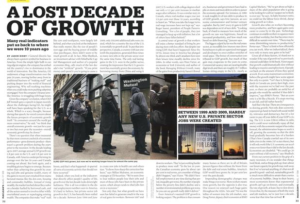 Article Preview: A LOST DECADE OF GROWTH, AUG. 17th 2009 2009 | Maclean's