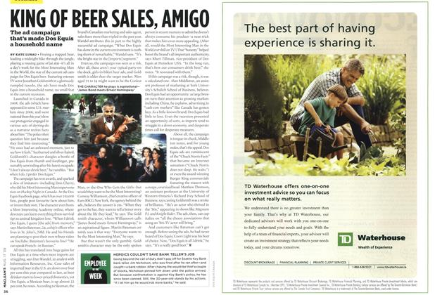 Article Preview: KING OF BEER SALES, AMIGO, AUG. 17th 2009 2009 | Maclean's