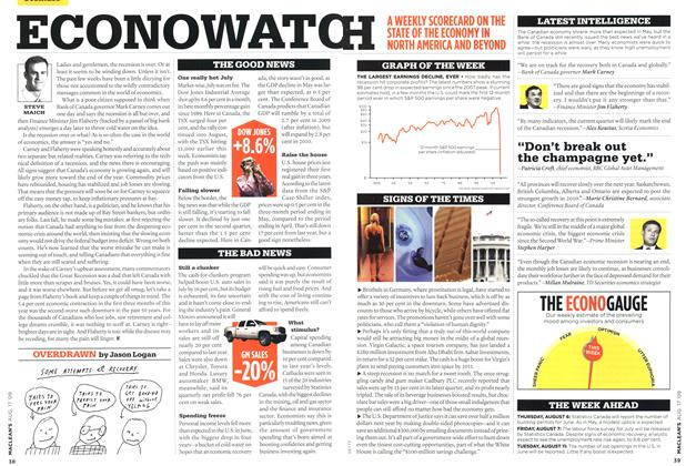 Article Preview: ECONOWATCH, AUG. 17th 2009 2009 | Maclean's