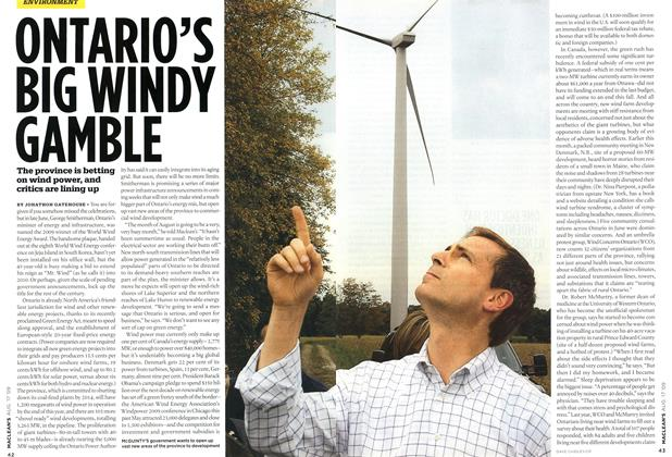 Article Preview: ONTARIO'S BIG WINDY GAMBLE, AUG. 17th 2009 2009 | Maclean's