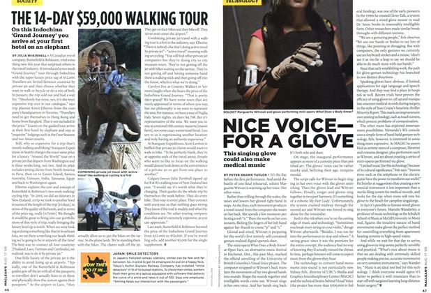 Article Preview: NICE VOICE— FOR A GLOVE, AUG. 17th 2009 2009 | Maclean's