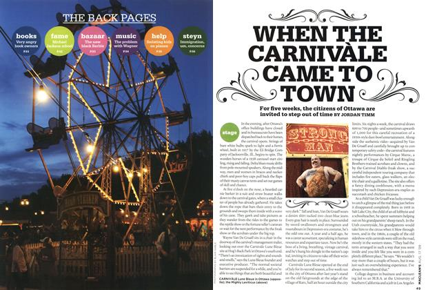 Article Preview: WHEN THE CARNIVÀLE CAME TO TOWN, AUG. 17th 2009 2009   Maclean's