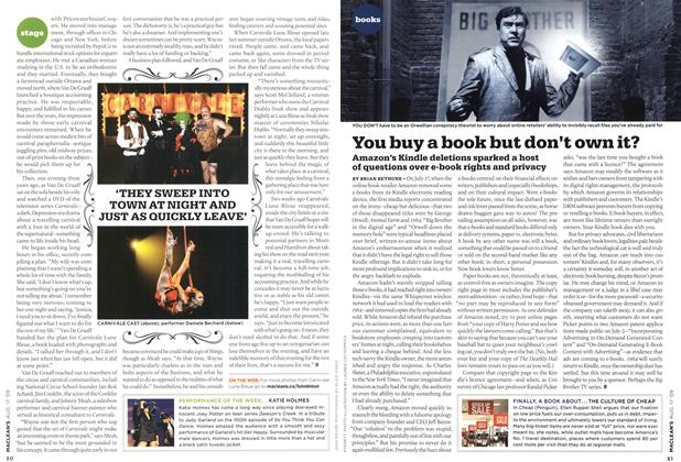 Article Preview: You buy a book but don't own it?, AUG. 17th 2009 2009 | Maclean's