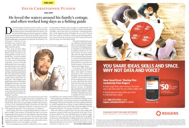 Article Preview: DAVID CHRISTOPHER PUNDYK, AUG. 17th 2009 2009 | Maclean's