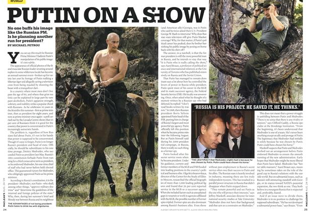 Article Preview: PUTIN ON A SHOW, AUG. 24th 2009 2009 | Maclean's
