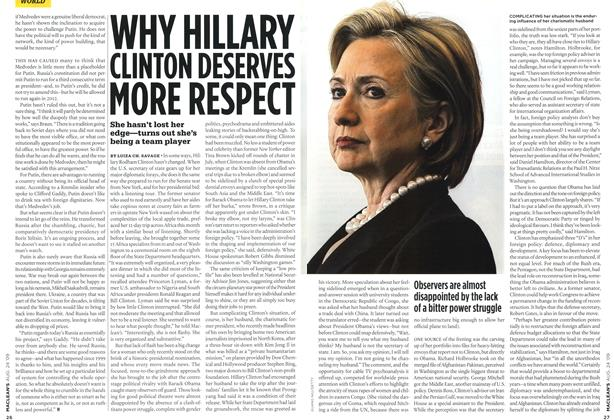 Article Preview: WHY HILLARY CLINTON DESERVES MORE RESPECT, AUG. 24th 2009 2009 | Maclean's
