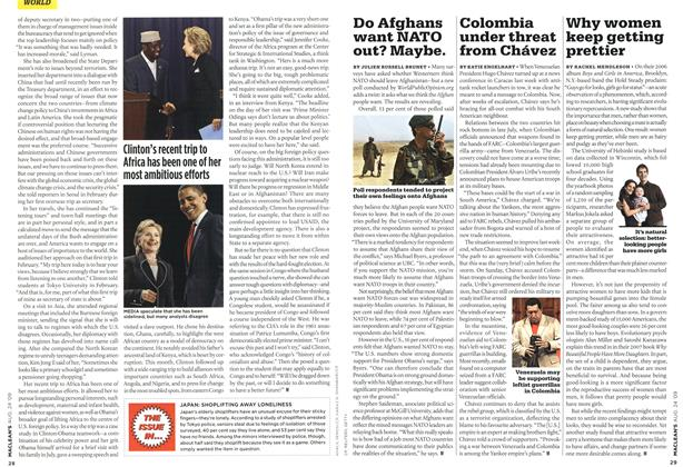 Article Preview: Colombia under threat from Chávez, AUG. 24th 2009 2009 | Maclean's