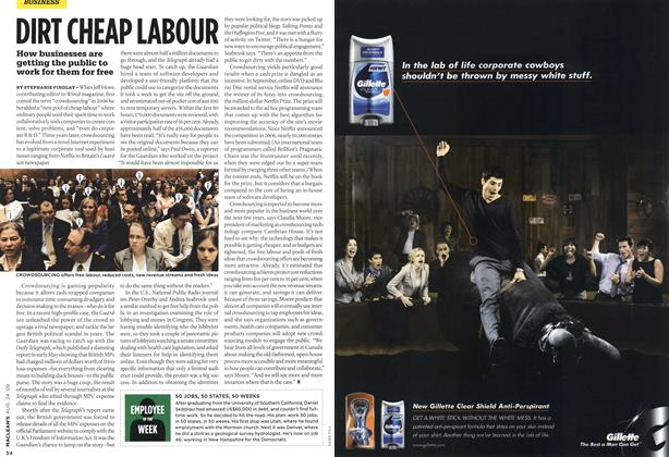 Article Preview: DIRT CHEAP LABOUR, AUG. 24th 2009 2009 | Maclean's