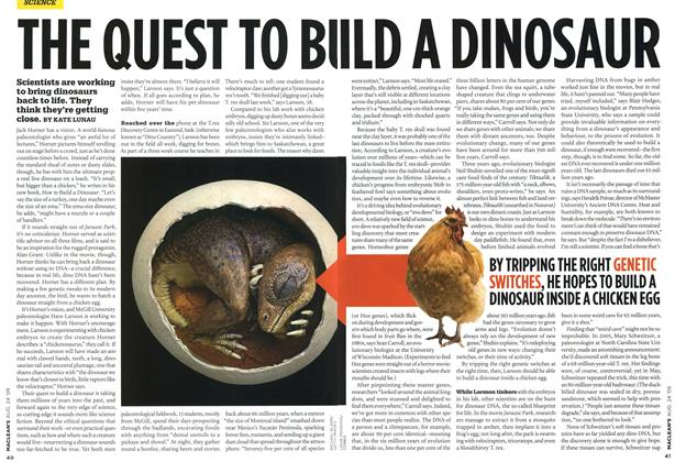 Article Preview: THE QUEST TO BUILD A DINOSAUR, AUG. 24th 2009 2009 | Maclean's