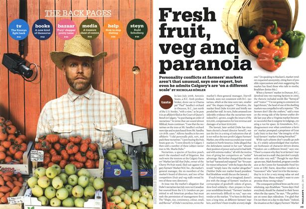 Article Preview: Fresh fruit, veg and paranoia, AUG. 24th 2009 2009 | Maclean's