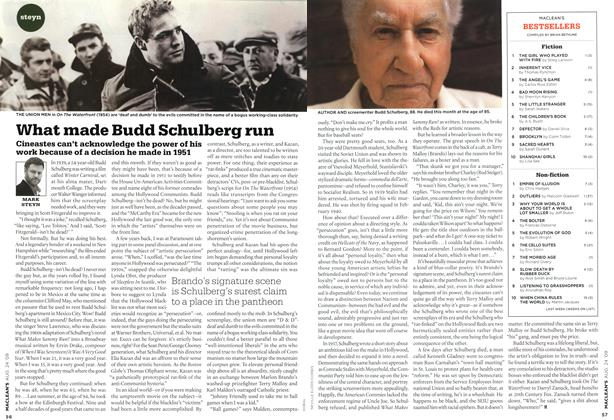 Article Preview: What made Budd Schulberg run, AUG. 24th 2009 2009 | Maclean's