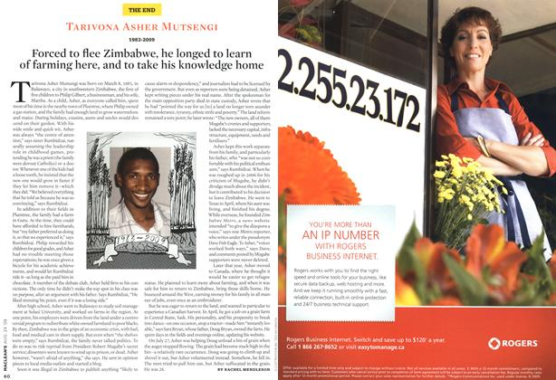 Article Preview: TARIVONA ASHER MUTSENGI 1983-2009, AUG. 24th 2009 2009 | Maclean's