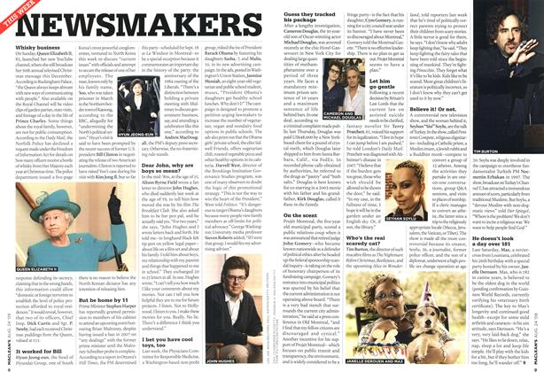Article Preview: NEWSMAKERS, AUG. 24th 2009 2009 | Maclean's