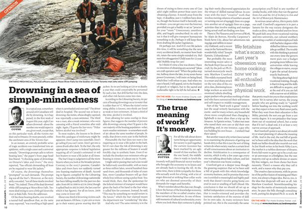 Article Preview: Drowning in a sea of simple-mindedness, AUG. 24th 2009 2009 | Maclean's