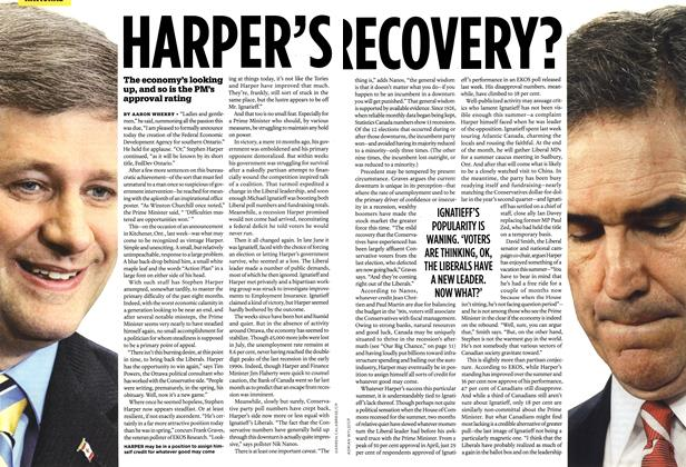Article Preview: HARPER'S RECOVERY?, AUG. 31st 2009 2009 | Maclean's