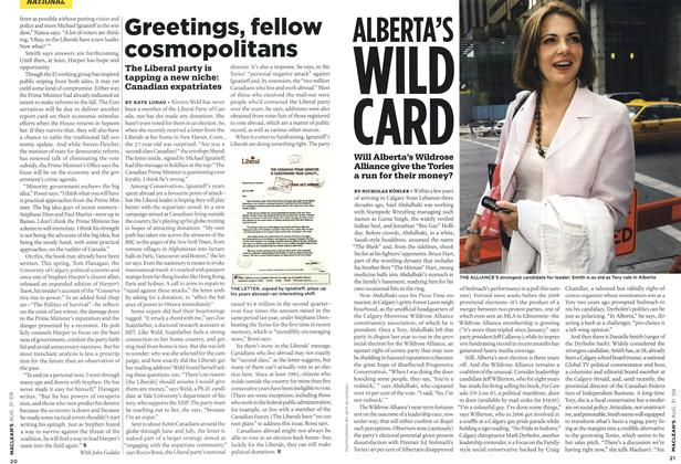 Article Preview: ALBERTA'S WILD CARD, AUG. 31st 2009 2009 | Maclean's