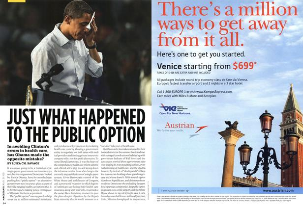 Article Preview: JUST WHAT HAPPENED TO THE PUBLIC OPTION, AUG. 31st 2009 2009 | Maclean's