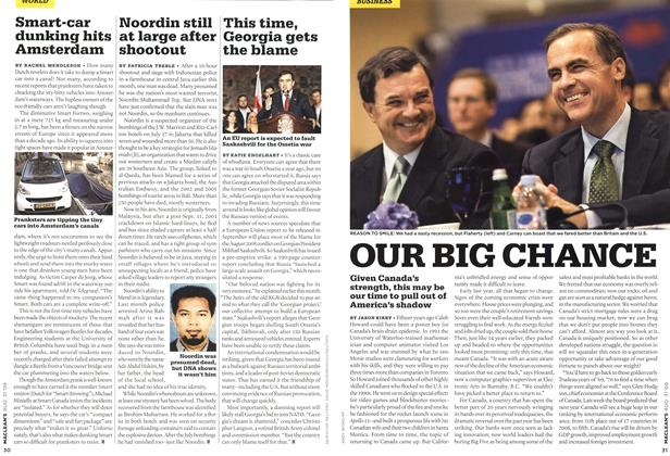 Article Preview: OUR BIG CHANCE, AUG. 31st 2009 2009 | Maclean's