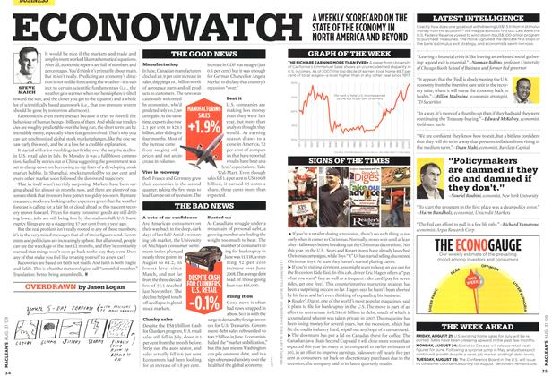 Article Preview: ECONOWATCH, AUG. 31st 2009 2009 | Maclean's