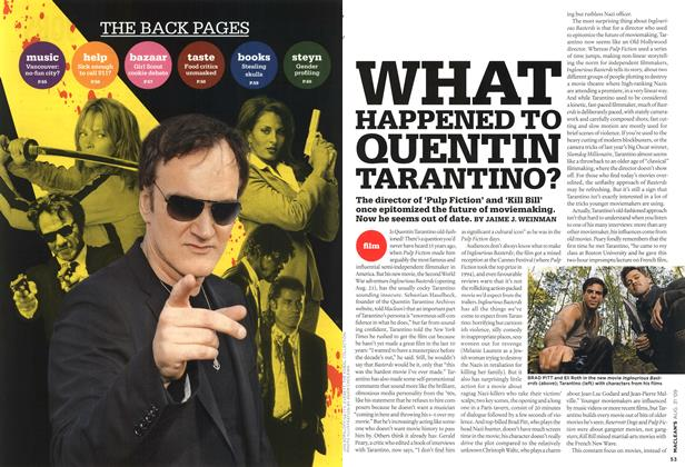 Article Preview: WHAT HAPPENED TO QUENTIN TARANTINO?, AUG. 31st 2009 2009 | Maclean's