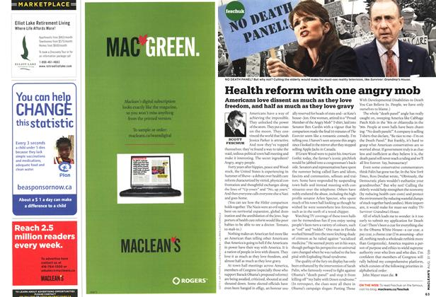 Article Preview: Health reform with one angry mob, AUG. 31st 2009 2009 | Maclean's