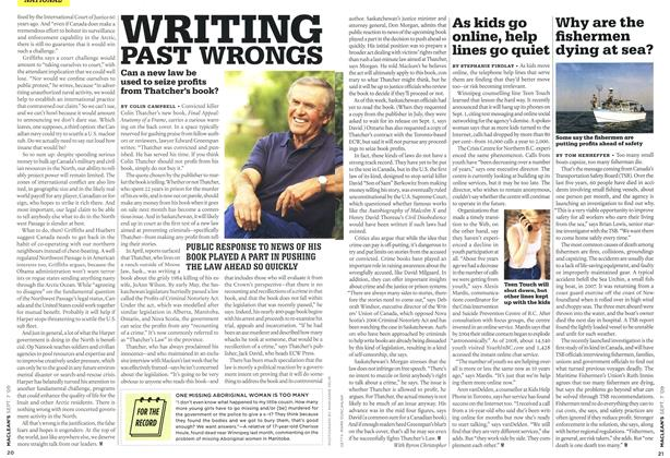 Article Preview: WRITING PAST WRONGS, SEPT. 7th 2009 2009 | Maclean's