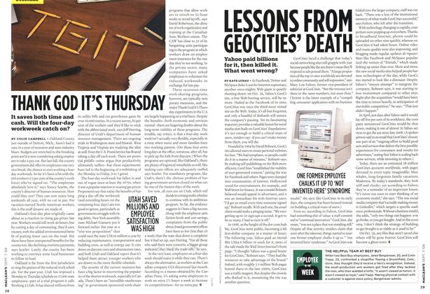 Article Preview: LESSONS FROM GEOCITIES' DEATH, SEPT. 7th 2009 2009 | Maclean's