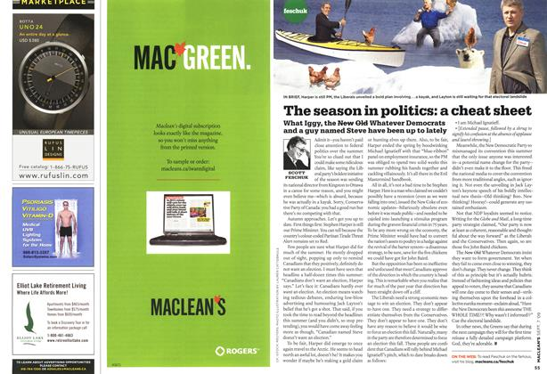 Article Preview: The season in politics: a cheat sheet, SEPT. 7th 2009 2009 | Maclean's
