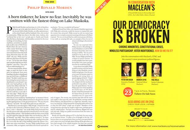 Article Preview: PHILIP RONALD MORDEN 1976-2009, SEPT. 7th 2009 2009 | Maclean's