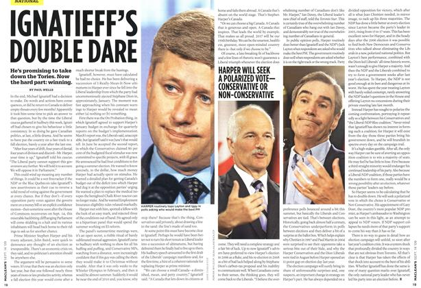 Article Preview: IGNATIEFF'S DOUBLE DARE, SEPT. 14th 2009 2009 | Maclean's