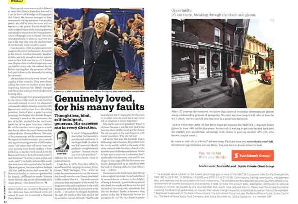 Article Preview: Genuinely loved, for his many faults, SEPT. 14th 2009 2009 | Maclean's