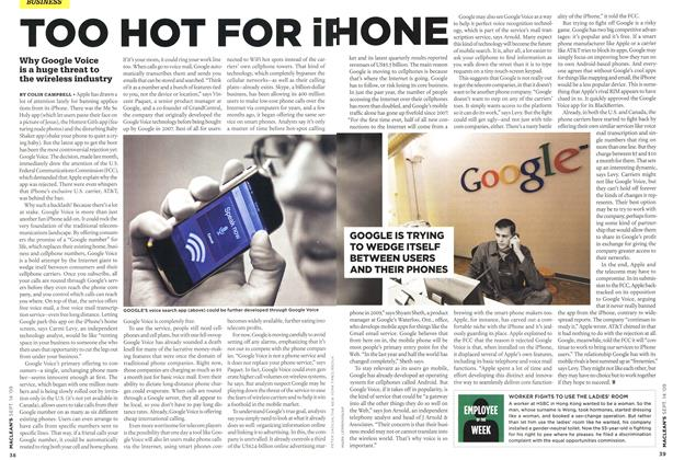 Article Preview: TOO HOT FOR iPHONE, SEPT. 14th 2009 2009 | Maclean's