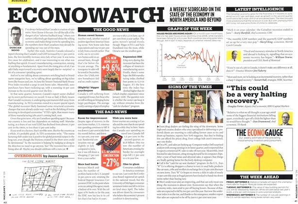 Article Preview: ECONOWATCH, SEPT. 14th 2009 2009 | Maclean's