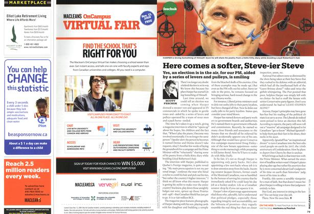 Article Preview: Here comes a softer, Steve-ier Steve, SEPT. 14th 2009 2009 | Maclean's