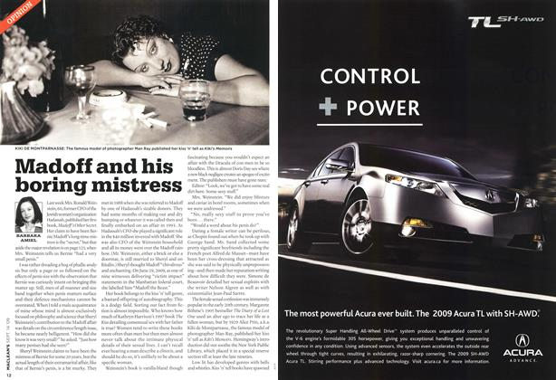 Article Preview: Madoff and his boring mistress, SEPT. 14th 2009 2009 | Maclean's