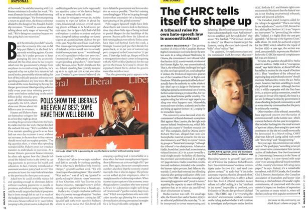 Article Preview: The CHRC tells itself to shape up, SEPT. 21st 2009 2009 | Maclean's
