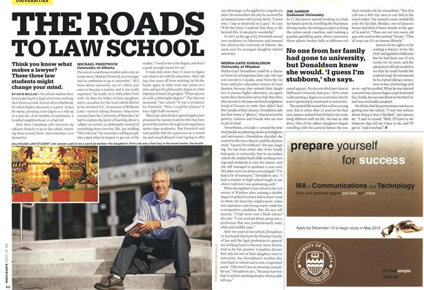 Article Preview: THE ROADS TO LAW SCHOOL, SEPT. 21st 2009 2009 | Maclean's